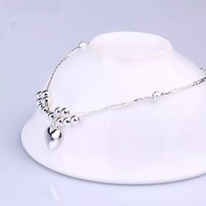 Jewelry - Double Chain Heart Shaped Anklet